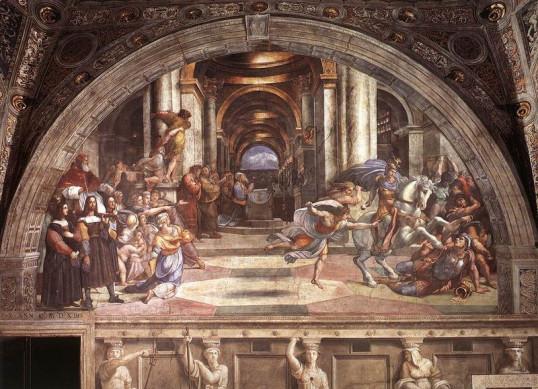 Η Αποπομπή του Ηλιόδωρου από τον Ναό.Stanza di Eliodoro, Palazzi Pontifici, Βατικανό
