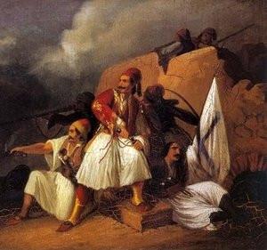 Πίνακας που αναπαριστά Έλληνες Αγωνιστές της Επανάστασης του 1821