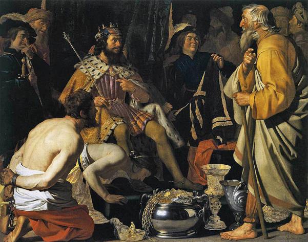 Ο Σόλων επισκέπτεται την αυλή του Λύδου βασιλιά Κροίσου, πίνακας του 16ου αιώνα