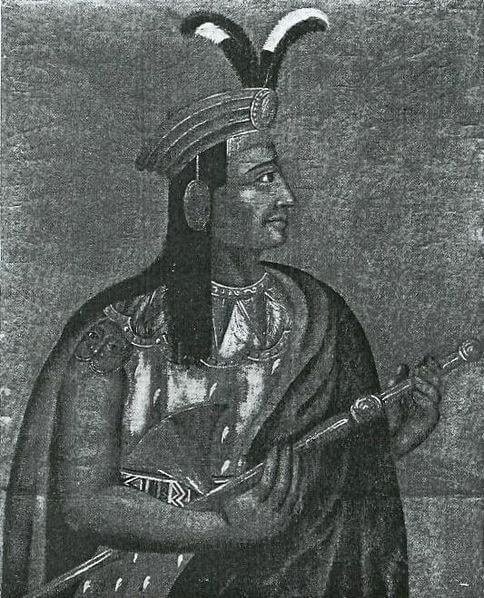 Ένα μάλλον ακριβές πορτραίτο του Αταχουάλπα, το οποίο σχεδιάστηκε από κάποιον άνδρα του Πισάρο
