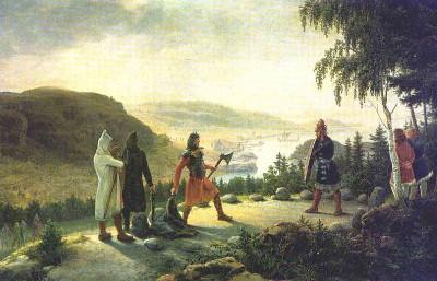 Ρομαντική απεικόνιση του Έρικ σε πίνακα του 19ου αιώνα
