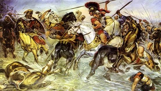 Moνομαχία μεταξύ μακεδονικού και περσικού ιππικού στον Γρανικό ποταμό, Πίνακας Αλεξάνδρου Αλεξανδράκη