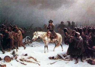 Η υποχώρηση από τη Ρωσία, πίνακας του Adolph Northen