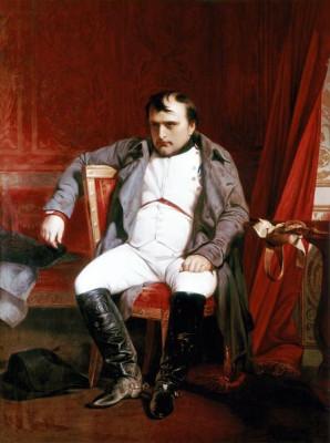 Πίνακας του Hippolyte Delaroche: Ο Ναπολέων μετά την εκθρόνισή του στο παλάτι του Φωντενεμπλώ (1845), The Royal Collection, Λονδίνο