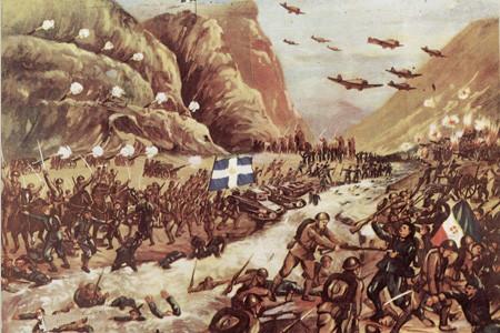 Λαϊκή απεικόνιση της μάχης στο Καλπάκι