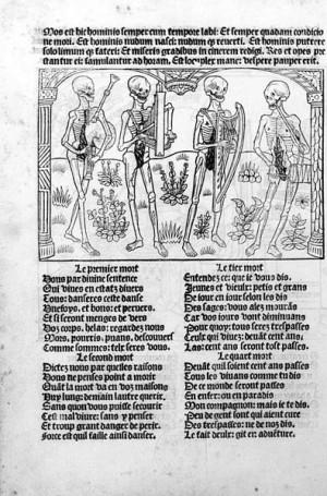 Μακάβριος Χορός - Σκελετοί που παίζουν μουσική, 1486