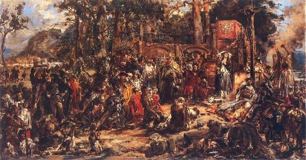 Ο προσυλητισμός των Λιθουανών στον Χριστιανισμό, του Jan Matejko, 1889, Βασιλικό Κάστρο, Βαρσοβία