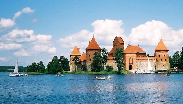 Το κάστρο της νήσου Τρακάι στη Λιθουανία