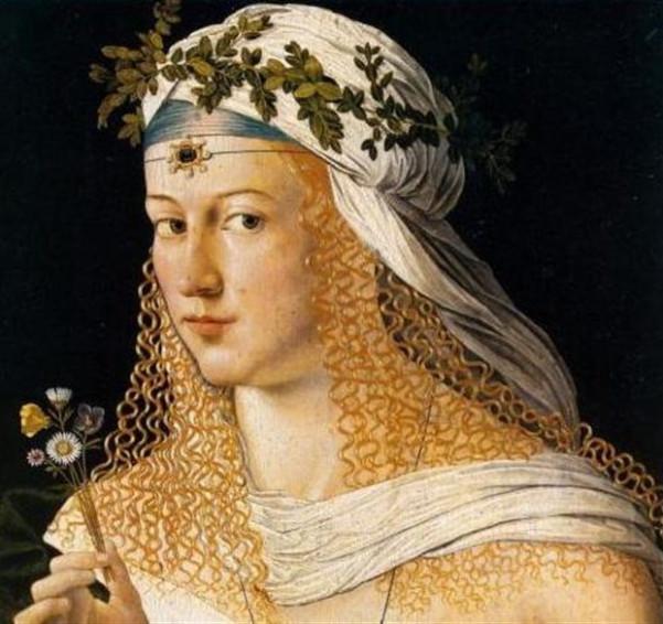 Πορτρέτο του ζωγράφου Μπαρτολομέο Βένετο (1515) απεικονίζει τη Λουκρητία Βοργία